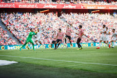 BILBAO, SPAIN - SEPTEMBER 18: Mikel San Jose, Raul Garcia, Aritz Aduriz and Diego Alves, in the match between Athletic Bilbao and Stock Photo