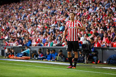 BILBAO, SPAIN - SEPTEMBER 18: Oscar de Marcos, Bilbao player, in action during a Spanish League match between Athletic Bilbao and Royalty Free Stock Image