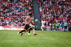 BILBAO, SPAIN - SEPTEMBER 18: Raul Garcia, Athletic Club Bilbao player, in the match between Athletic Bilbao and Valencia CF, cele Stock Photo
