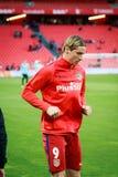 BILBAO SPANIEN - APRIL 20: Fernando Torres för matchen mellan idrotts- Bilbao och Athletico de Madrid som firas på April 20 Royaltyfri Bild
