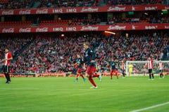 BILBAO SPANIEN - APRIL 20: Fernando Torres i matchen mellan idrotts- Bilbao och Athletico de Madrid som firas på April 20, 20 Royaltyfri Bild