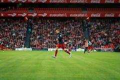 BILBAO SPANIEN - APRIL 20: Fernando Torres i matchen mellan idrotts- Bilbao och Athletico de Madrid som firas på April 20, 20 Fotografering för Bildbyråer