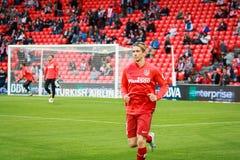 BILBAO, SPANIEN - 20. APRIL: Fernando Torres vor dem Match zwischen Athletic Bilbao und Athletico De Madrid, am 20. April gefeier Lizenzfreie Stockbilder