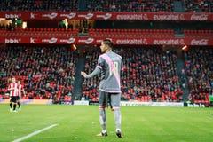 BILBAO, SPANIEN - ARPIL 10: Ze Castro im Match zwischen Athletic Bilbao und Rayo Vallecano, gefeiert am 10. April 2016 in Bilba Lizenzfreie Stockbilder
