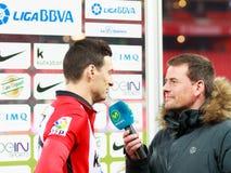 BILBAO, SPANIEN - ARPIL 10: Ze Castro im Match zwischen Athletic Bilbao und Rayo Vallecano, gefeiert am 10. April 2016 in Bilba Stockfotografie