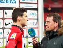 BILBAO, SPANIEN - ARPIL 10: Ze Castro im Match zwischen Athletic Bilbao und Rayo Vallecano, gefeiert am 10. April 2016 in Bilba Lizenzfreie Stockfotos