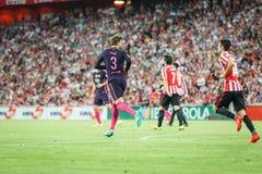 BILBAO, SPANIEN - 28. AUGUST: Gerard Pique, FC- Barcelonaspieler, in der Aktion während eines spanischen Ligaspiels zwischen Athl Stockfotos
