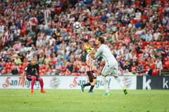 BILBAO, SPANIEN - 28. AUGUST: Gorka Iraizoz, athletischer Verein-Bilbao-Torhüter, im Match zwischen Athletic Bilbao und FC Barcel Lizenzfreies Stockbild