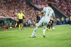 BILBAO, SPANIEN - 28. AUGUST: Gorka Iraizoz, athletischer Verein-Bilbao-Torhüter, während des Spiels zwischen Athletic Bilbao und Lizenzfreie Stockfotografie