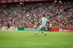 BILBAO, SPANIEN - 28. AUGUST: Gorka Iraizoz, athletischer Verein-Bilbao-Torhüter, während des Spiels zwischen Athletic Bilbao und Stockfoto