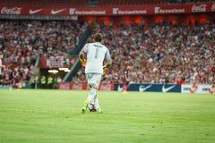 BILBAO, SPANIEN - 28. AUGUST: Gorka Iraizoz, athletischer Verein-Bilbao-Torhüter, während des Spiels zwischen Athletic Bilbao und Stockfotos