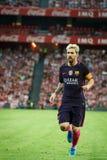 BILBAO, SPANIEN - 28. AUGUST: Lionel Messi, FC- Barcelonaspieler, in der Aktion während eines spanischen Ligaspiels zwischen Athl Lizenzfreie Stockfotos