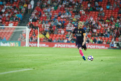 BILBAO, SPANIEN - 28. AUGUST: Lionel Messi, FC- Barcelonaspieler, in der Aktion während eines spanischen Ligaspiels zwischen Athl Lizenzfreies Stockbild