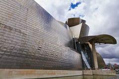 BILBAO SPANIEN, CIRCA AUGUSTI 2018, Guggenheim arkivbild