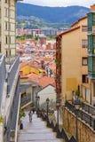 BILBAO, SPANIEN, CIRCA im August 2018, Straßenabfall lizenzfreies stockfoto