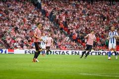 BILBAO, SPANIEN - 16. OKTOBER: Aritz Aduriz, athletischer Verein-Bilbao-Spieler, in der Aktion während eines spanischen Ligaspiel Stockfotos