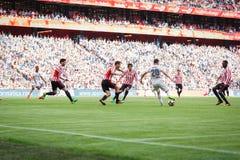 BILBAO SPANIEN - SEPTEMBER 18: Alvaro Medran Valencia CFspelare, under en spansk ligamatch mellan idrotts- Bilbao och Valenci Royaltyfria Foton
