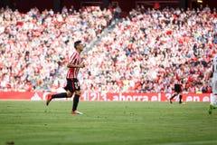 BILBAO, SPANIEN - 18. SEPTEMBER: Aritz Aduriz, Bilbao-Spieler, während des Spiels zwischen Athletic Bilbao und Valencia CF, feier Stockbild