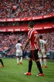 BILBAO, SPANIEN - 18. SEPTEMBER: Aritz Aduriz, Bilbao-Spieler, während des Spiels zwischen Athletic Bilbao und Valencia CF, feier Lizenzfreie Stockfotografie