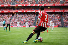 BILBAO SPANIEN - SEPTEMBER 18: Eneko Boveda Bilbao spelare, under en spansk ligamatch mellan idrotts- Bilbao och Valencia CF, Royaltyfri Bild