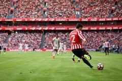 BILBAO SPANIEN - SEPTEMBER 18: Eneko Boveda Bilbao spelare, under en spansk ligamatch mellan idrotts- Bilbao och Valencia CF, Royaltyfria Bilder
