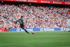 BILBAO SPANIEN - SEPTEMBER 18: Kepa Arrizabalaga Bilbao målvakt, i handling under en spansk ligamatch mellan idrotts- Bilba Royaltyfria Bilder