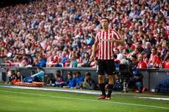 BILBAO SPANIEN - SEPTEMBER 18: Oscar de Marcos Bilbao spelare, i handling under en spansk ligamatch mellan idrotts- Bilbao och Royaltyfri Bild