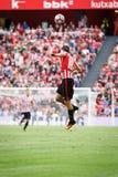 BILBAO SPANIEN - SEPTEMBER 18: Oscar de Marcos Bilbao spelare, i handling under en spansk ligamatch mellan idrotts- Bilbao och Arkivbilder