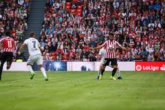 BILBAO SPANIEN - SEPTEMBER 18: Raul Garcia Bilbao spelare, i handling under en spansk ligamatch mellan idrotts- Bilbao och dal Royaltyfri Fotografi
