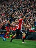 BILBAO, SPANJE - APRIL 20: Koke en Oscar de Marcos in de gelijke tussen Atletische die Bilbao en Athletico DE Madrid, op April wo Stock Fotografie
