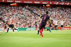 BILBAO, SPANJE - AUGUSTUS 28: Luis Suarez in de gelijke tussen Atletische die Bilbao en FC Barcelona, op 28 Augustus, 2016 in Bil Stock Fotografie