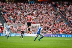 BILBAO, SPANJE - OKTOBER 16: Aritz Aduriz, Ahtletic-de speler van Clubbilbao, in actie tijdens een Spaanse Ligagelijke tussen Atl Stock Foto's