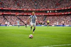 BILBAO, SPANJE - OKTOBER 16: David Zurutuza, Echte Sociedad-speler, in de gelijke tussen Atletisch Bilbao en Echte Sociedad, cele Royalty-vrije Stock Afbeelding