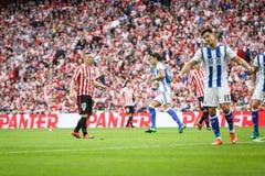 BILBAO, SPANJE - OKTOBER 16: Iker Muniain, de Atletische speler van Clubbilbao, tijdens een Spaanse Ligagelijke tussen Atletisch  Royalty-vrije Stock Foto's