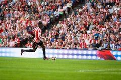 BILBAO, SPANJE - OKTOBER 16: Inaki Williams, de speler van Bilbao, in actie tijdens een Spaanse Ligagelijke tussen Atletische Bil Stock Afbeelding
