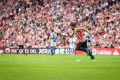 BILBAO, SPANJE - OKTOBER 16: Raul Garcia, de Atletische speler van Bilbao, in actie tijdens een Spaanse Ligagelijke tussen Atleti Stock Foto's