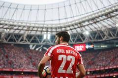 BILBAO, SPANJE - OKTOBER 16: Raul Garcia, de Atletische speler van Bilbao, in actie tijdens een Spaanse Ligagelijke tussen Atleti Royalty-vrije Stock Afbeelding