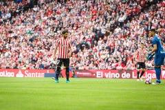 BILBAO, SPANJE - OKTOBER 16: Raul Garcia, de Atletische speler van Clubbilbao, tijdens een Spaanse Ligagelijke tussen Atletisch B Stock Afbeelding