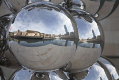 Bilbao in a sphere Stock Photos