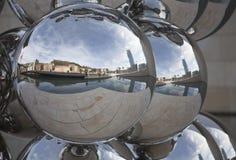 Bilbao in a sphere Stock Photos