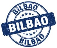 Bilbao stamp. Bilbao round grunge stamp isolated on white background. Bilbao
