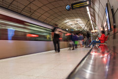 Bilbao underground station, Spain. Stock Photos