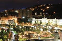Bilbao vid natt royaltyfri foto