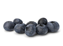 Bilberries or whortleberries cutout Royalty Free Stock Photography