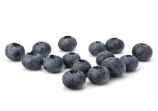 Bilberries or whortleberries cutout Stock Images