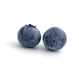 Bilberry. Sweet bilberries on white background Stock Images