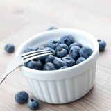 Bilberry in bowl Royalty Free Stock Images