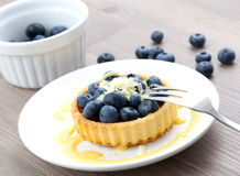 Bilberry cake Royalty Free Stock Photos