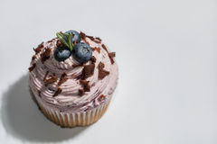 Bilberry cupcake Royalty Free Stock Images