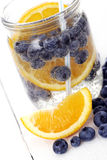Bilberry drink with lemon Royalty Free Stock Photography